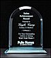 Arched Acrylic Award -